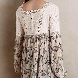 gorgeous FLOREAT anthropologie cantata blouse S